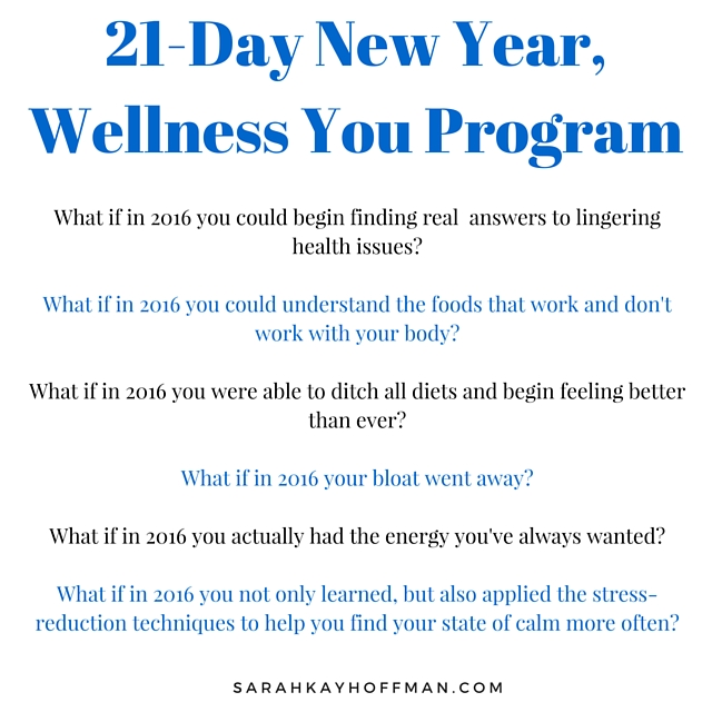 21-Day New Year, Wellness You Program with Sarah Kay Hoffman What if? sarahkayhoffman.com