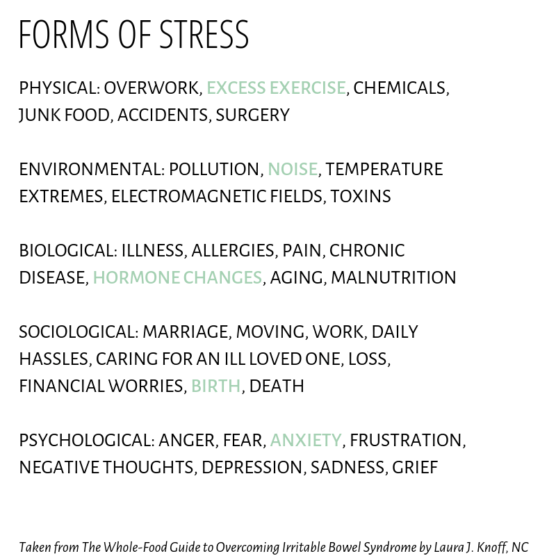 28 Ways to Reduce Stress agutsygirl.com forms of stress #stress #guthealth #healthyliving