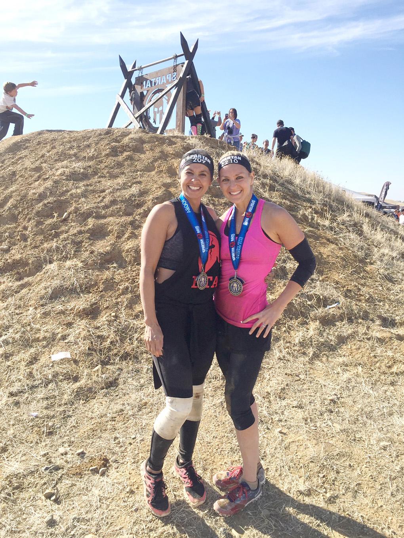 Spartan vs. Half Marathon Sarah Kay Hoffman and Susie sarahkayhoffman.com