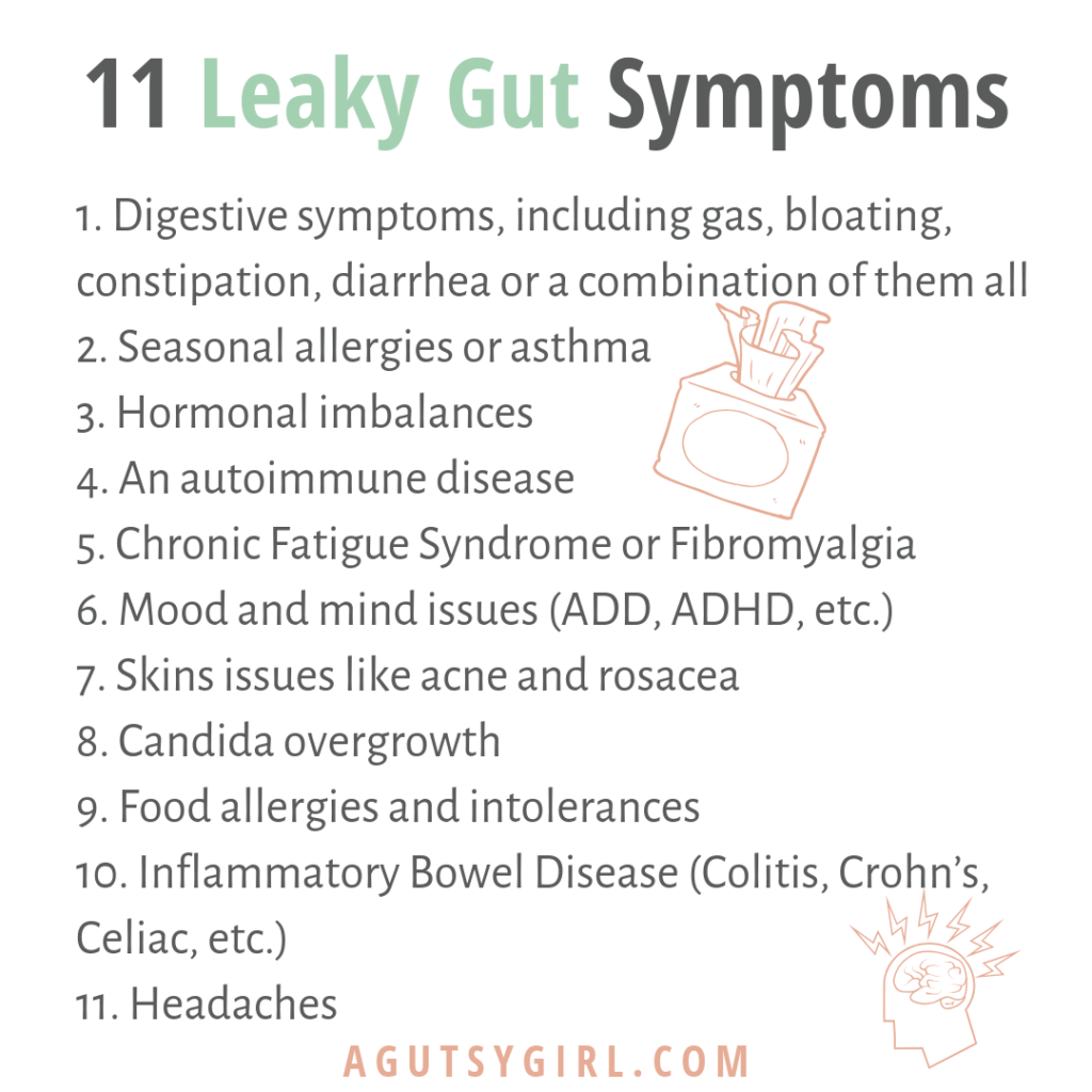 11 Leaky Gut Symptoms What is Leaky Gut Syndrome agutsygirl.com #leakygut #guthealth #ibs #gut