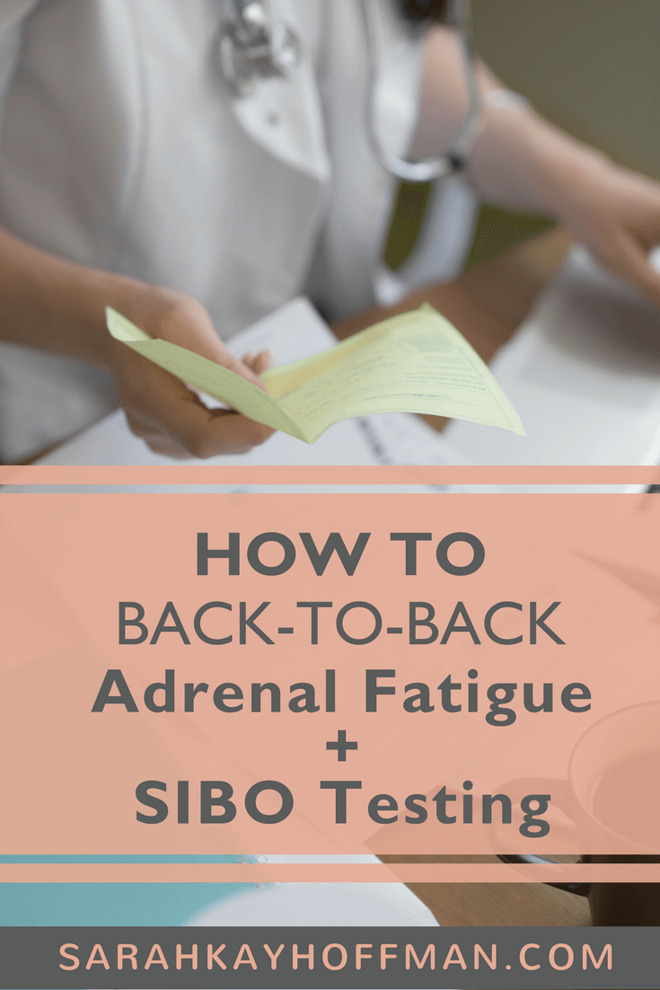 Adrenal Fatigue and SIBO Testing www.sarahkayhoffman.com gut health hormones