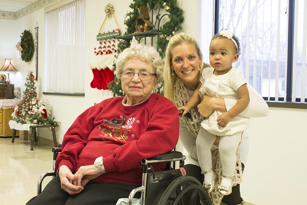 Grandma Verna, Sarah Kay Hoffman, Samarah Josephina Christmas 2014