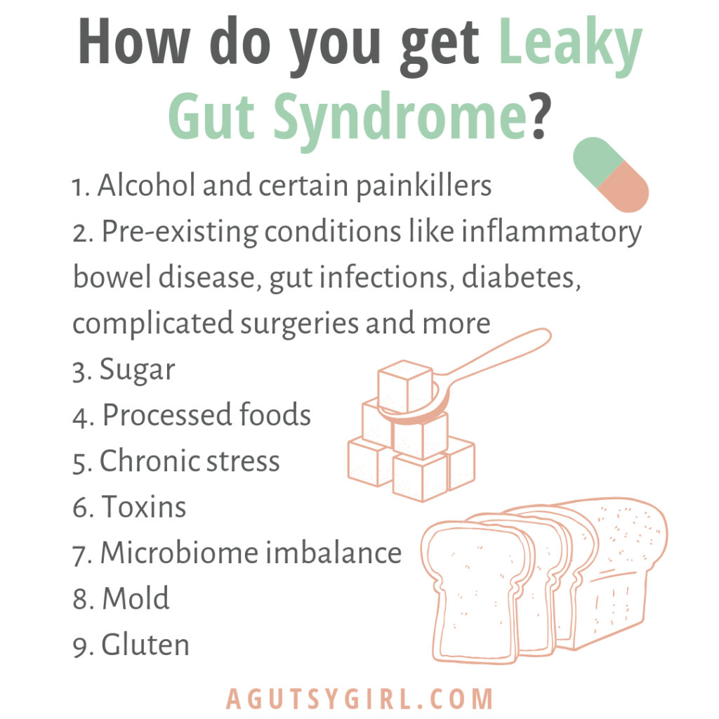 How do you get leaky gut syndrome agutsygirl.com #leakygut #guthealth #guthealing ibs
