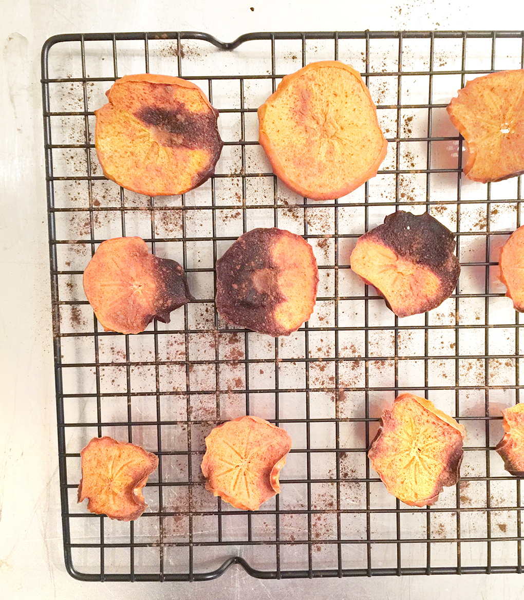 Persimmons and Coloring Books How to bake into chips sarahkayhoffman.com