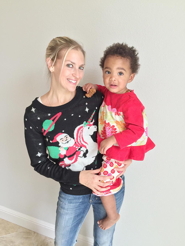 The Christmas Spirit Samarah Tipsy Elves Sweater sarahkayhoffman.com
