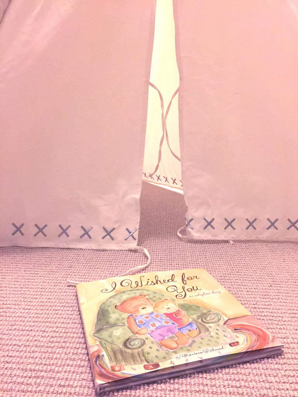 WWDW - Number 2 Land of Nod Teepee and Adoption Book sarahkayhoffman.com