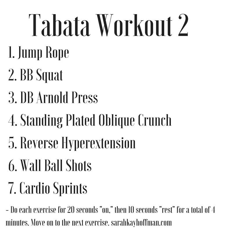 Tabata Workouts Tabata Workout 2 sarahkayhoffman.com