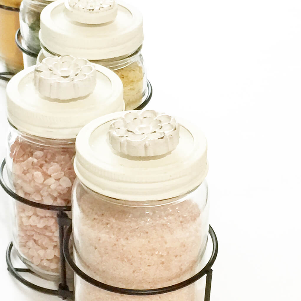 DIY Mason Jar Table Centerpieces sarahkayhoffman.com Lids