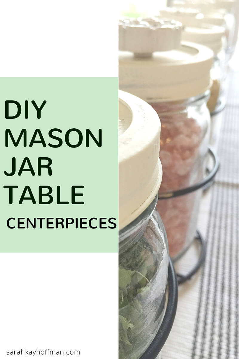 DIY Mason Jar Table Centerpieces sarahkayhoffman.com