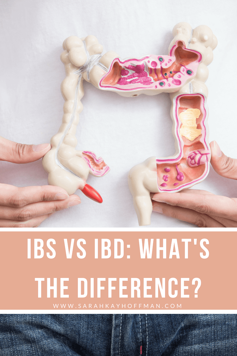 IBS vs IBD What's the Difference www.sarahkayhoffman.com #IBD #guthealth #healthyliving #gut