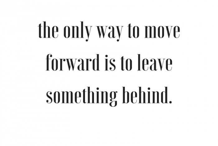 The Only Way to Move Forward