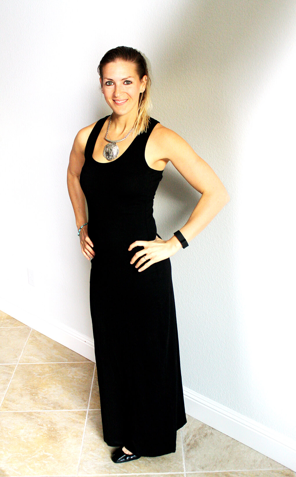 Fashion Friday with PACT Organic Maxi Dress sarahkayhoffman.com