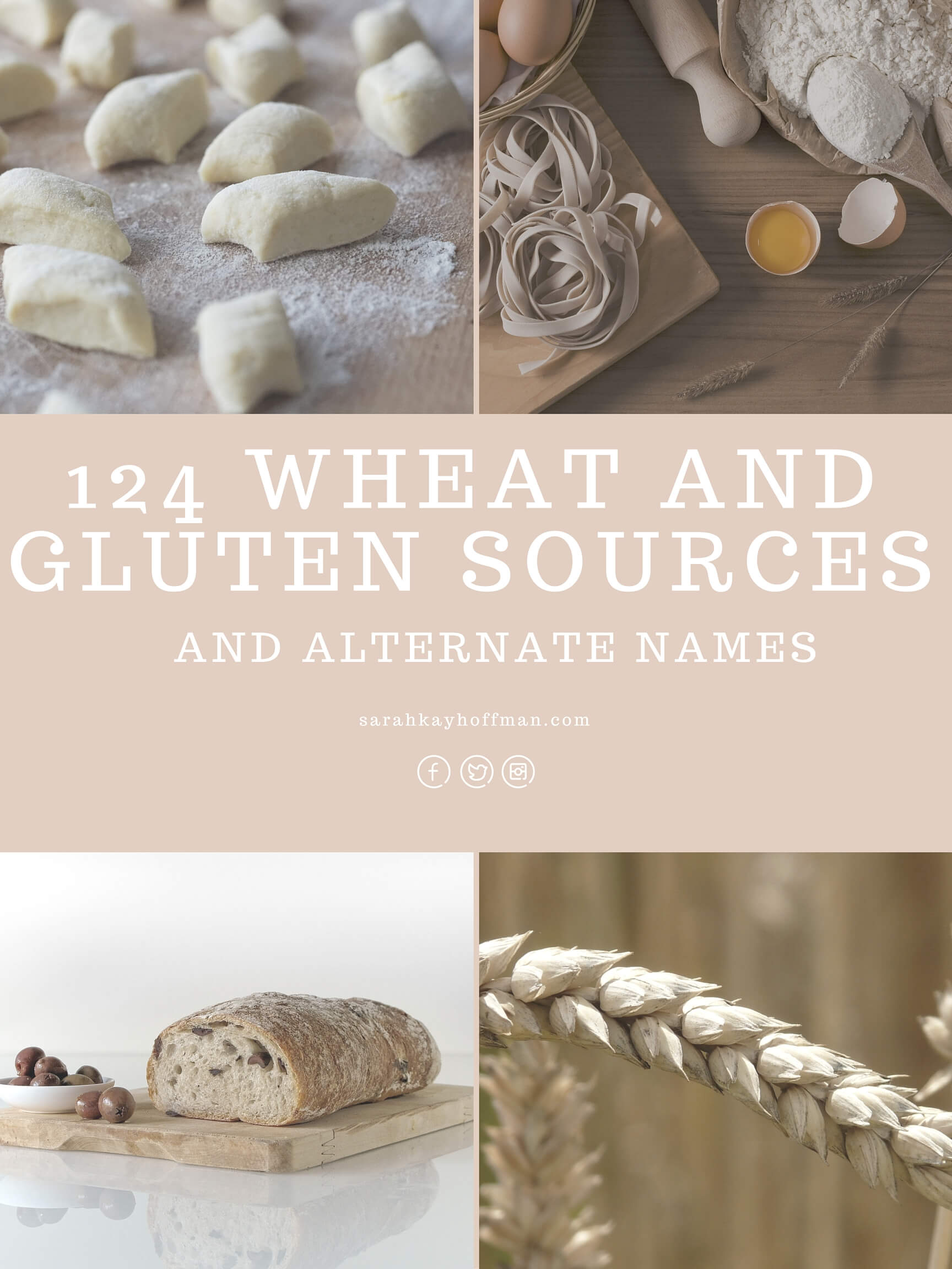 124 Wheat and Gluten Sources and Alternate Names sarahkayhoffman.com Help! I'm Gluten Free. Now What?