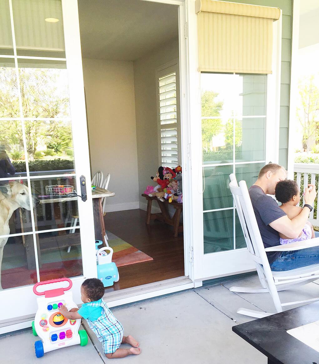 Put Your Oxygen Mask on First Samarah, Ryan, Isaiah Porch Adoption sarahkayhoffman.com