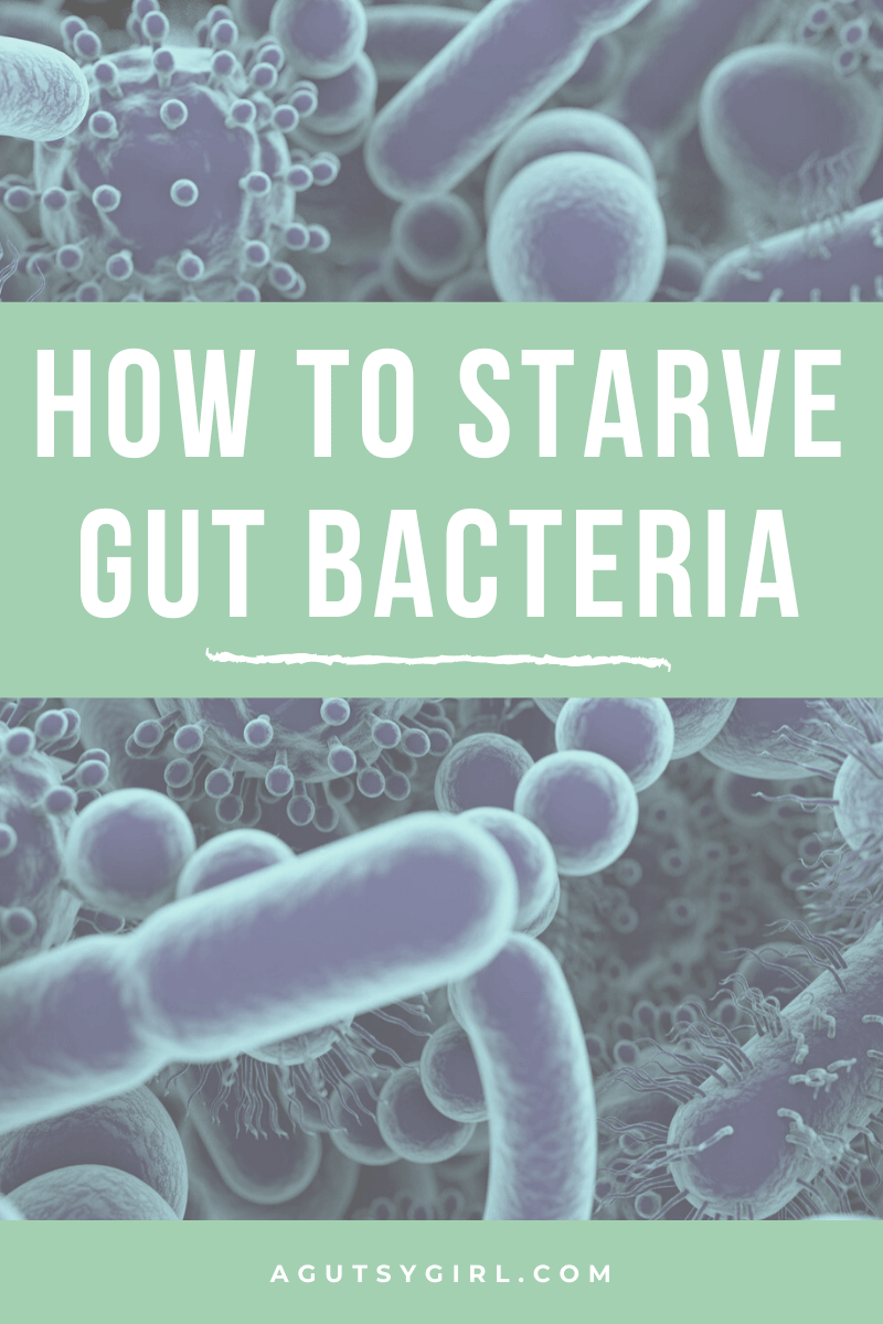 How to Starve Gut Bacteria agutsygirl.com #guthealth starving #gut #sibo A Gutsy Girl