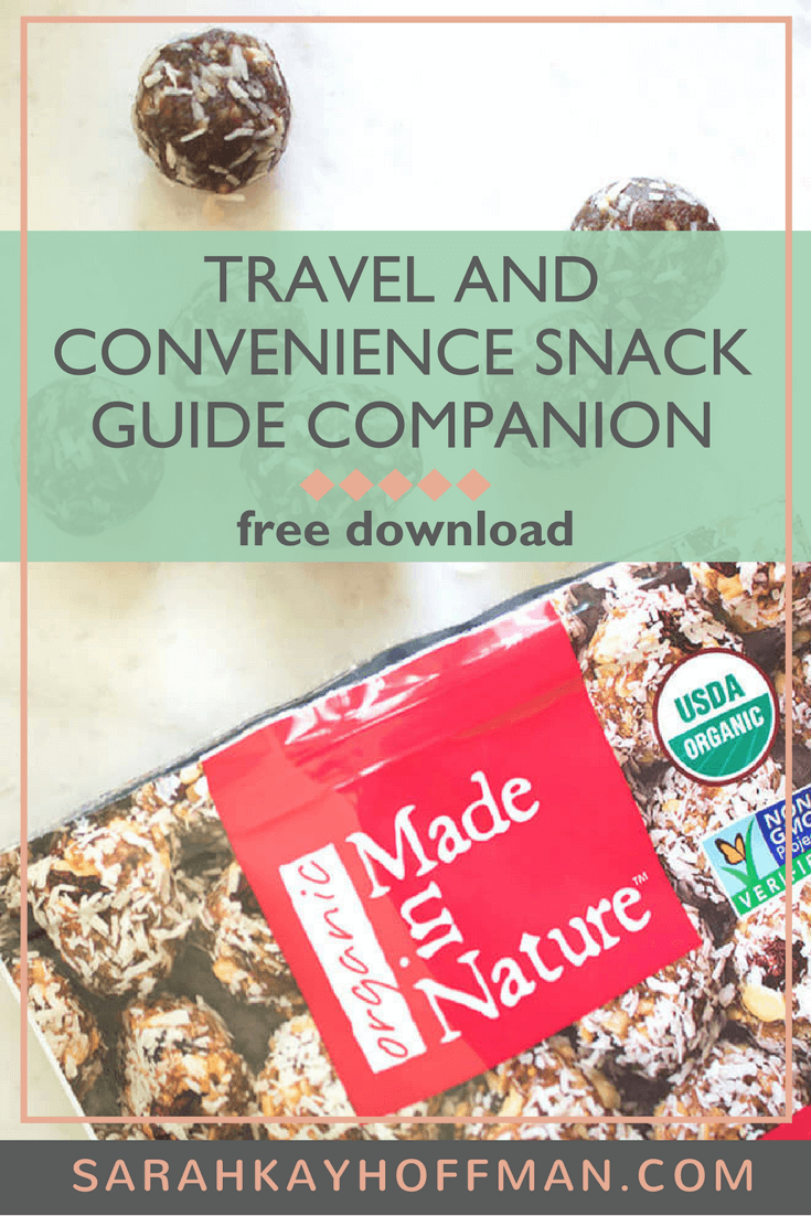 Travel and Convenience Snack Guide Companion www.sarahkayhoffman.com free download guide