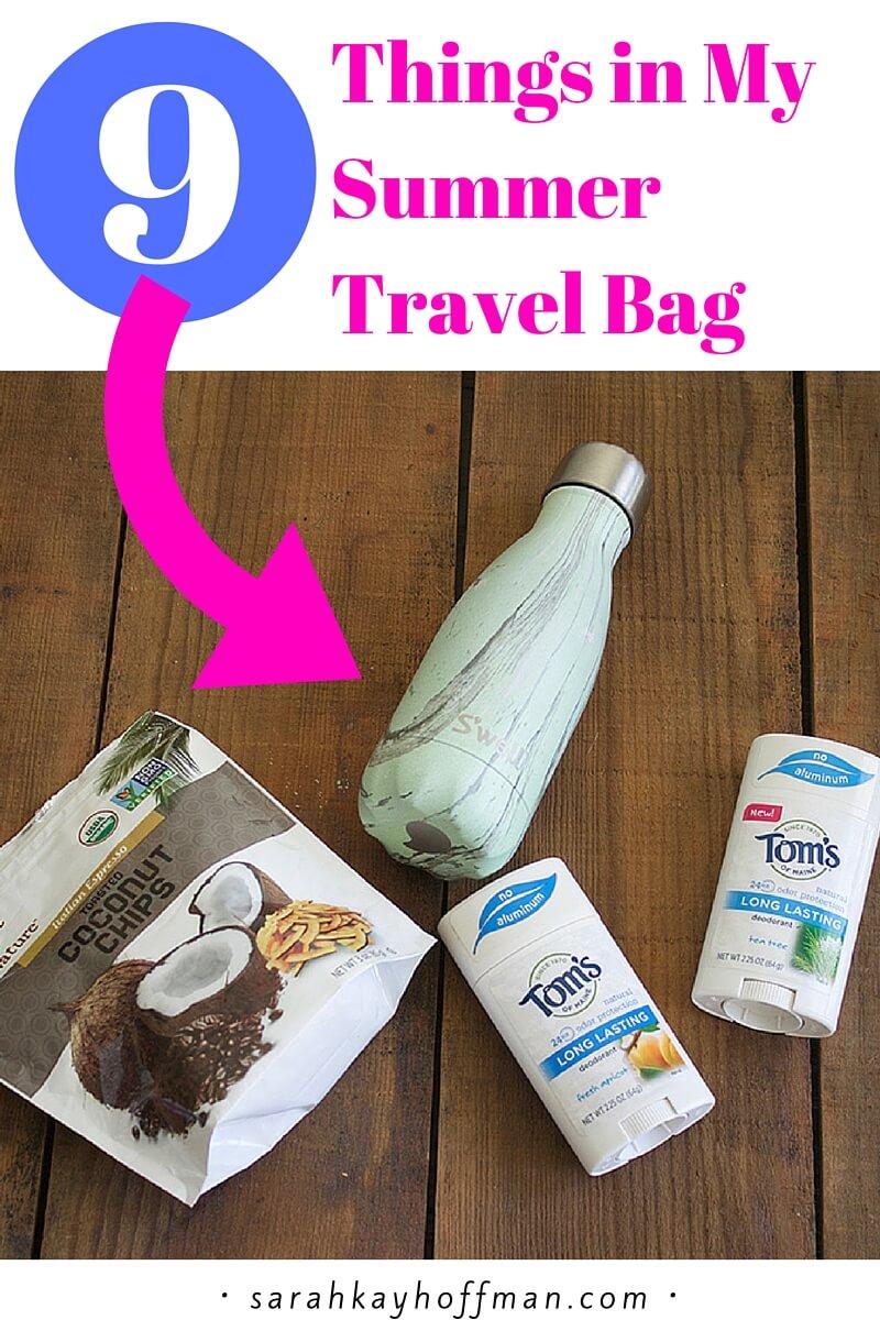9 Things in My Summer Travel Bag sarahkayhoffman.com