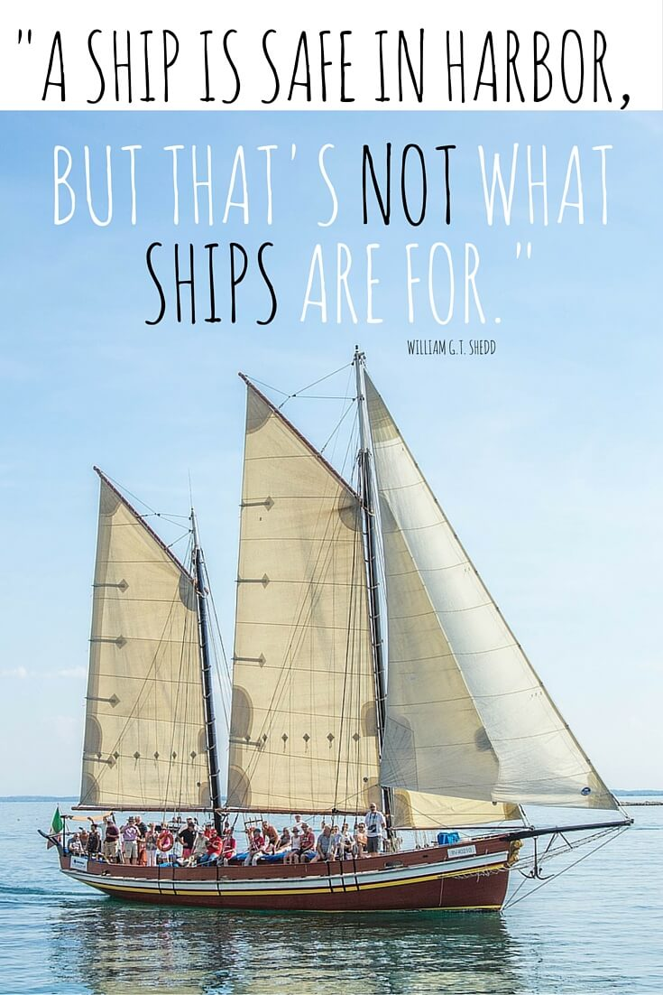 A Ship is Safe in Harbor via sarahkayhoffman.com