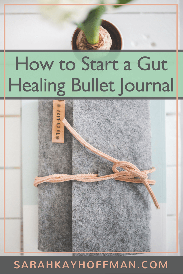 Gut Healing Bullet Journal www.sarahkayhoffman.com #bujo #bulletjournal #guthealth #healthyliving #journal