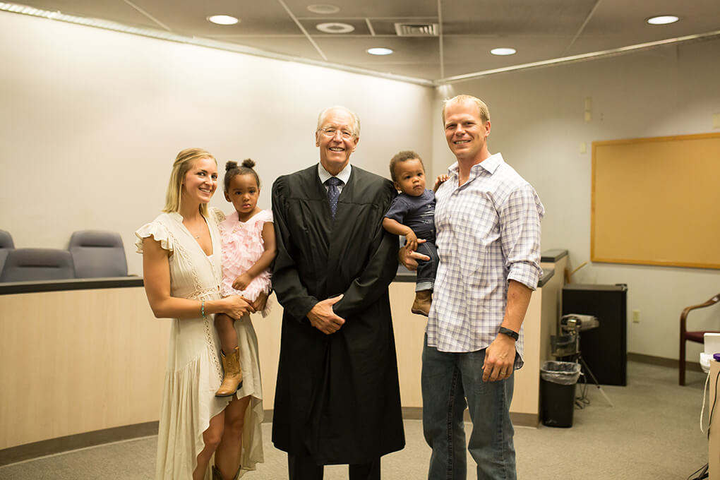 Meet Isaiah Taylor Hoffman sarahkayhoffman.com with the Judge on Gotcha Day