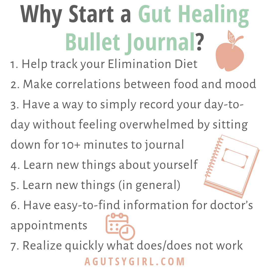Why Start a Gut Healing Bullet Journal agutsygirl.com ibs sibo elimination diet #guthealth #guthealing #sibo #ibs #bujo