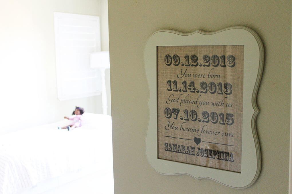 A Simple Toddler Room sarahkayhoffman.com Adoption
