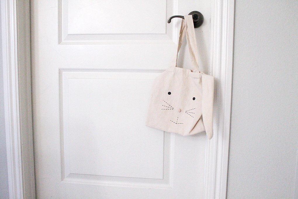 A Simple Toddler Room sarahkayhoffman.com Bunny Bag