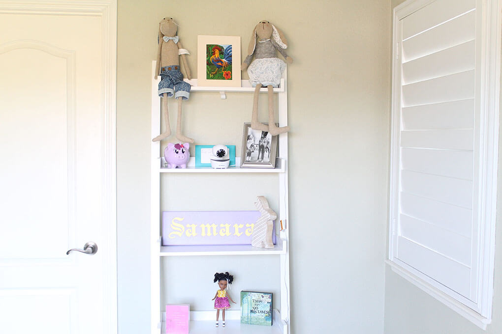 A Simple Toddler Room sarahkayhoffman.com The Container Store Book Shelf