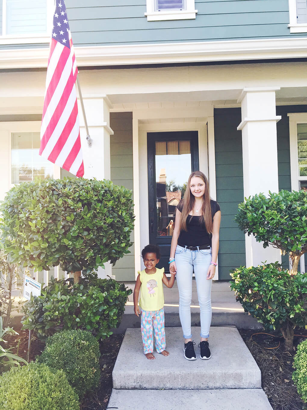 I am Busy via sarahkayhoffman.com Cecilia from Italy 1st day of School with Samarah