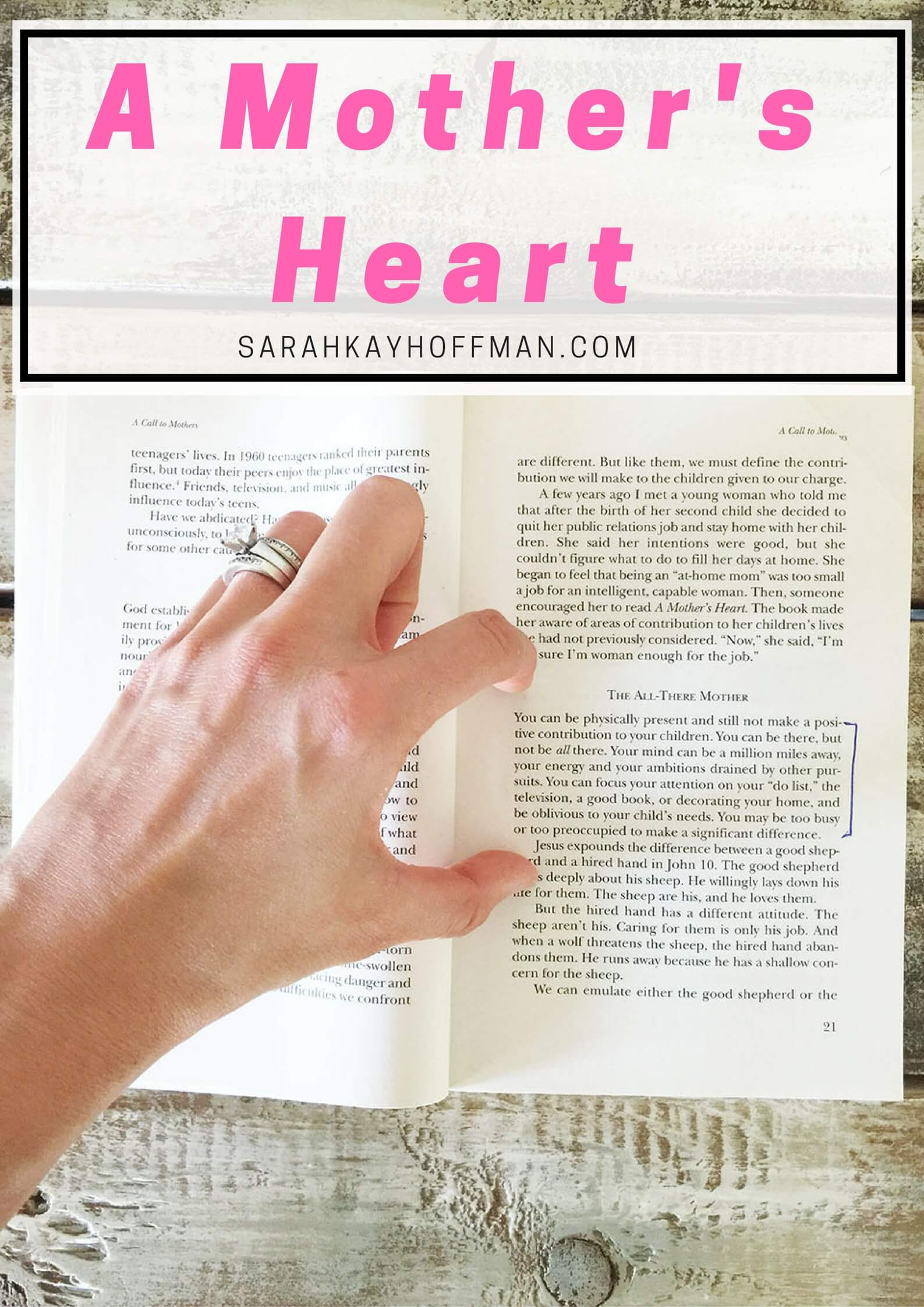 The All There Mother A Mother's Heart sarahkayhoffman.com Virtual Book Club