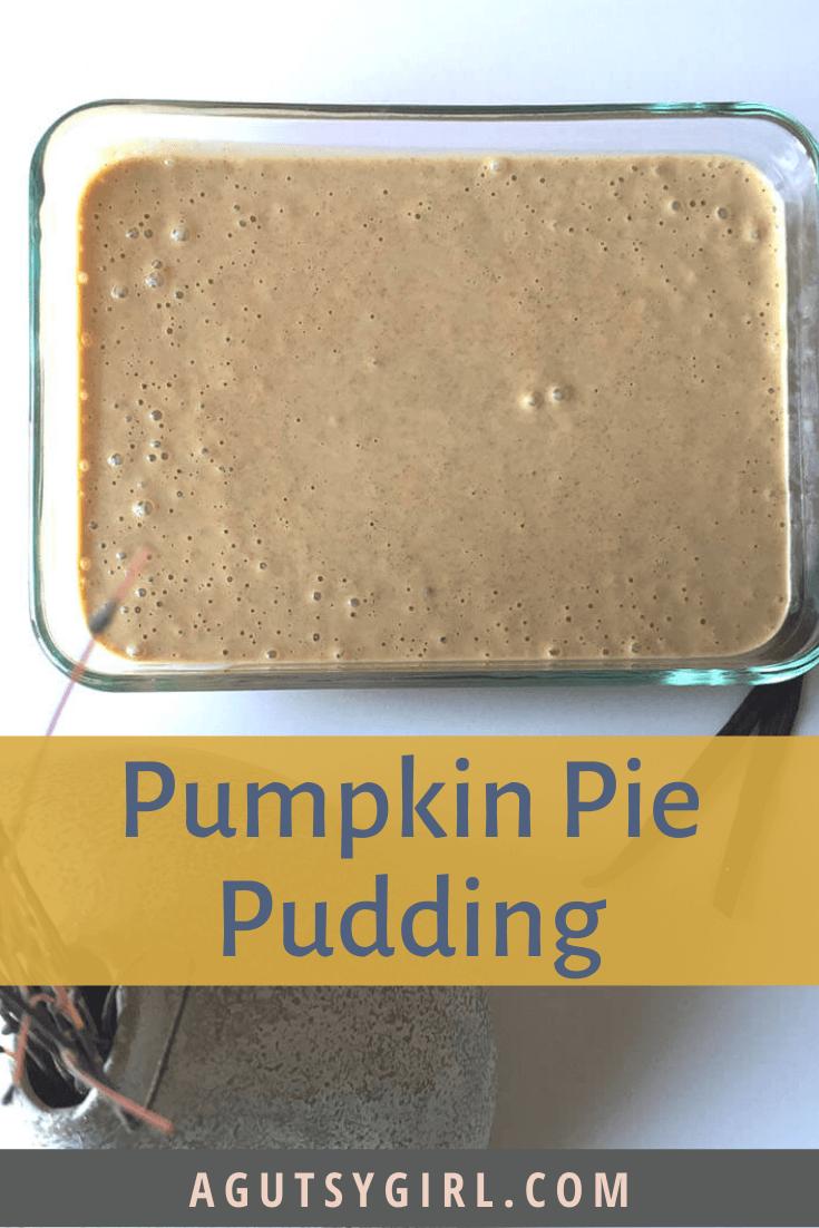 Pumpkin Pie Pudding recipe with gelatin agutsygirl.com #pumpkinpie #gelatin #guthealing #paleorecipe