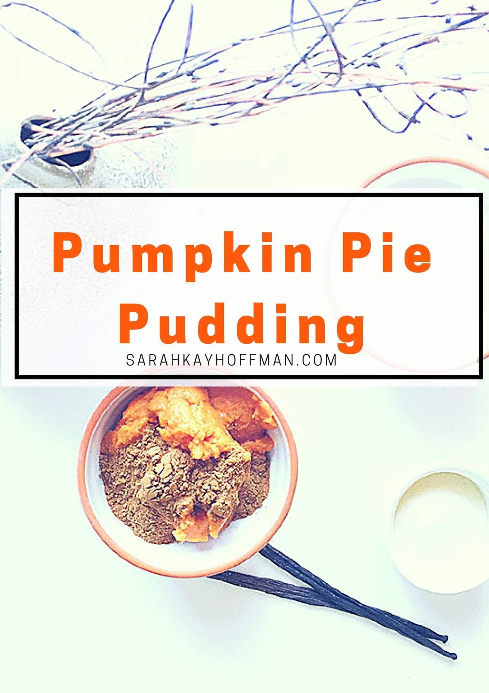 Pumpkin Pie Pudding sarahkayhoffman.com