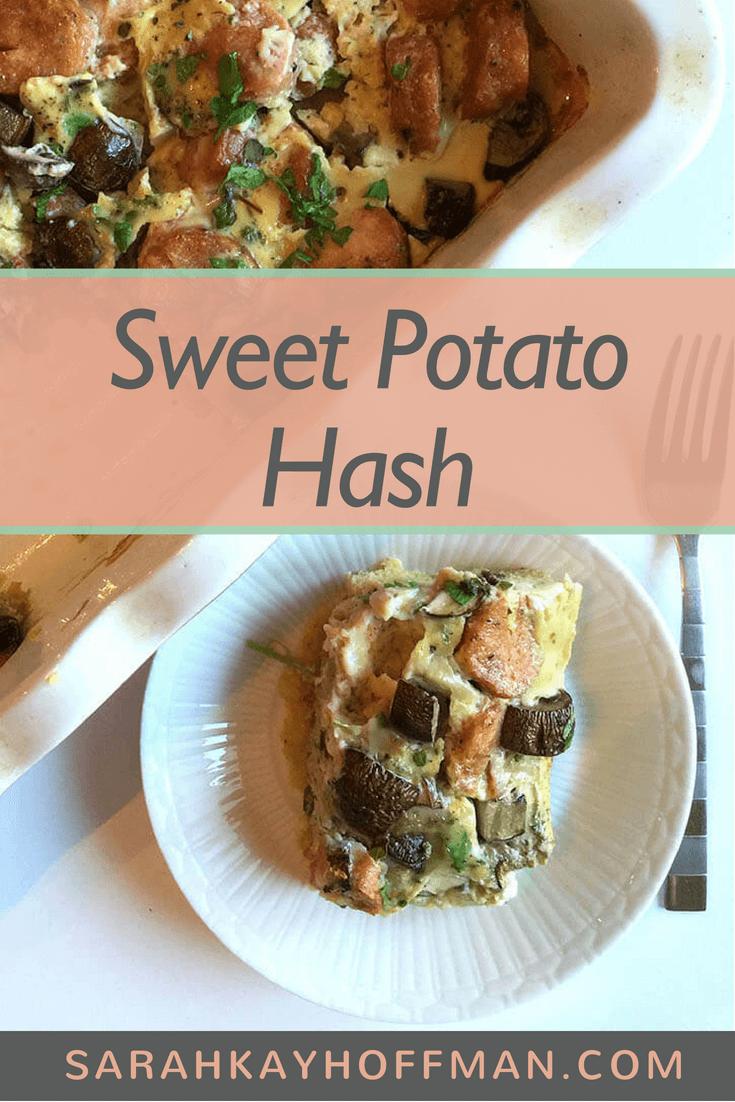 Sweet Potato Hash www.sarahkayhoffman.com #sweetpotato #casserole #healthyliving #Paleo
