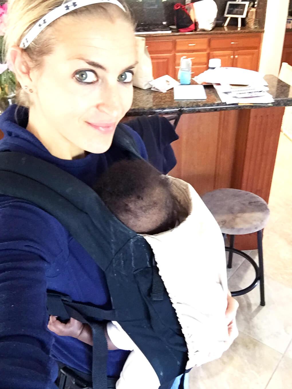 Delight SKH + Amiya Kaylee Ergobaby sarahkayhoffman.com Foster Adoption