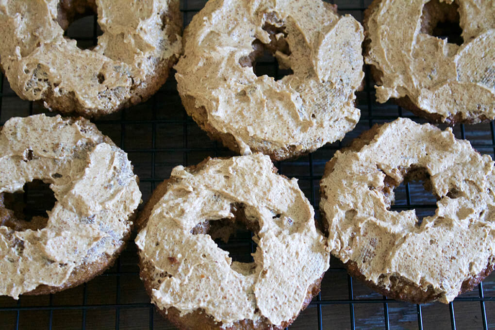 Pumpkin Spiced Donuts with a Pumpkin Spiced Frosting sarahkayhoffman.com Six Nutiva
