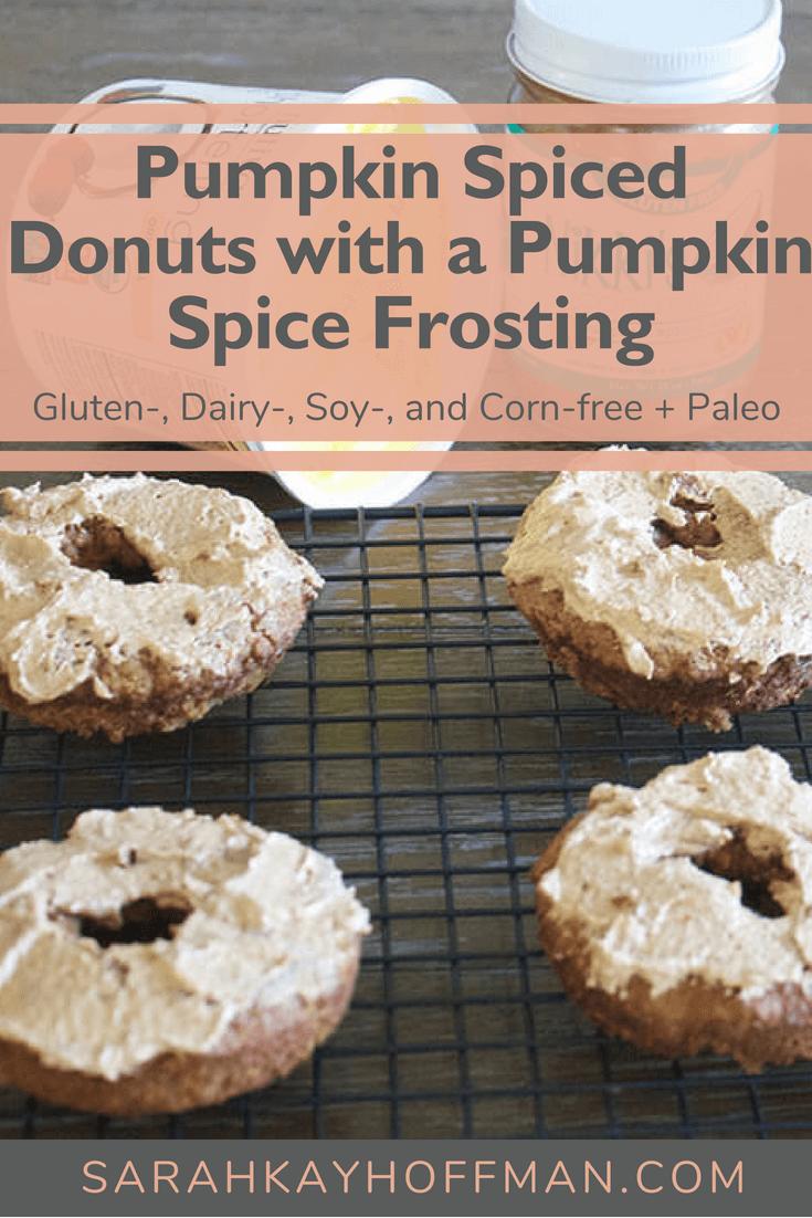 Pumpkin Spiced Donuts www.sarahkayhoffman.com #glutenfree #paleo #paleorecipe #healthyliving #healthyrecipe