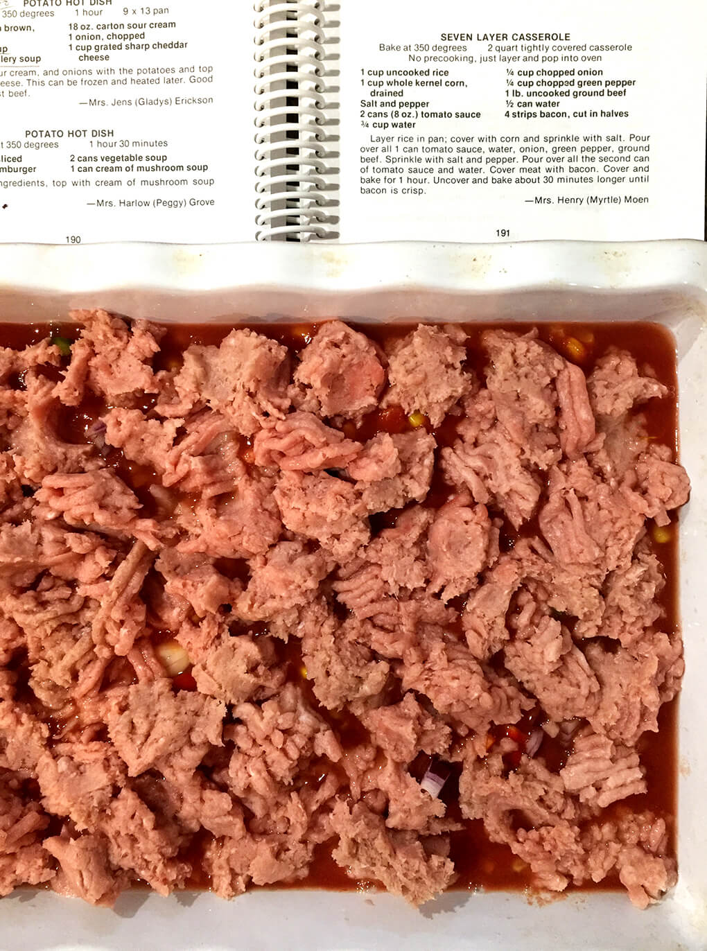 Seven Layer Casserole sarahkayhoffman.com Healthy Pantry