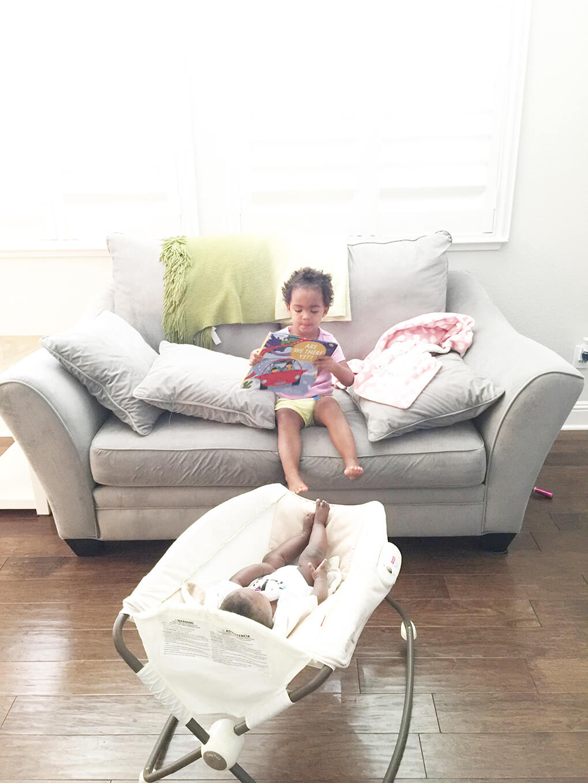 Three Children sarahkayhoffman.com Samarah reading to peanut adoption