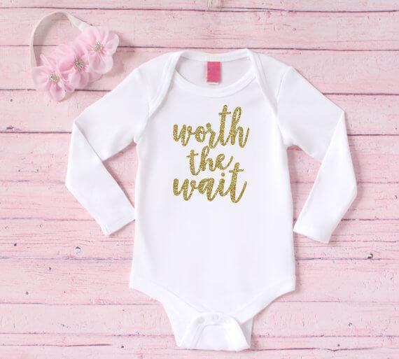 23 Adoption and Faith Holiday Gift Ideas sarahkayhoffman.com Worth the Wait Onesie