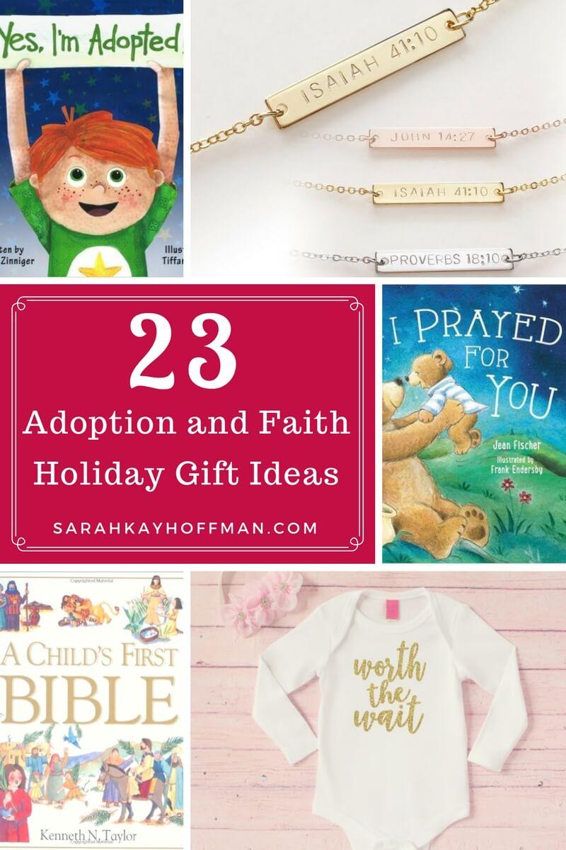 23 Adoption and Faith Holiday Gift Ideas sarahkayhoffman.com