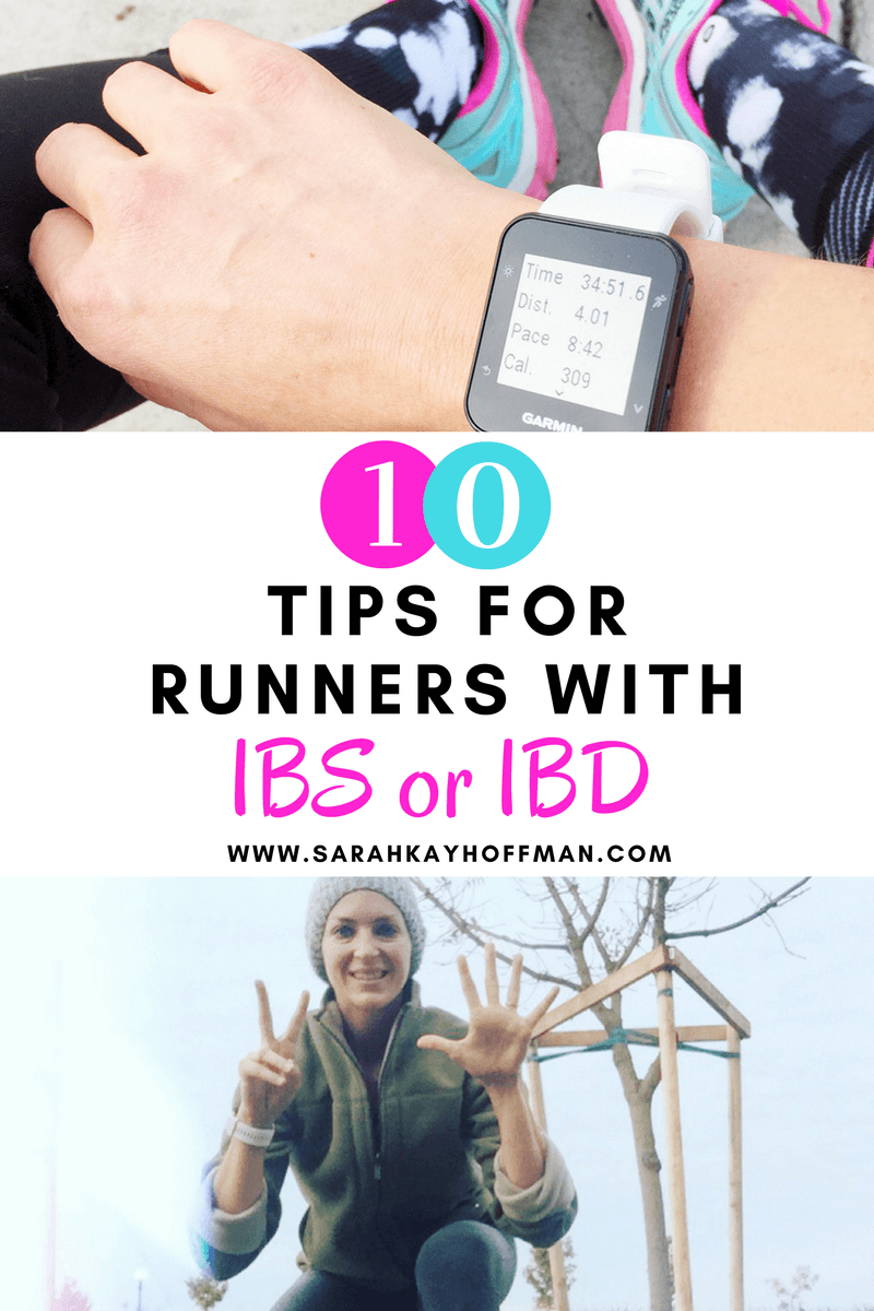 10 Tips for Runners with IBS or IBD sarahkayhoffman.com #ibs #ibd #running #run #guthealth #healthyliving