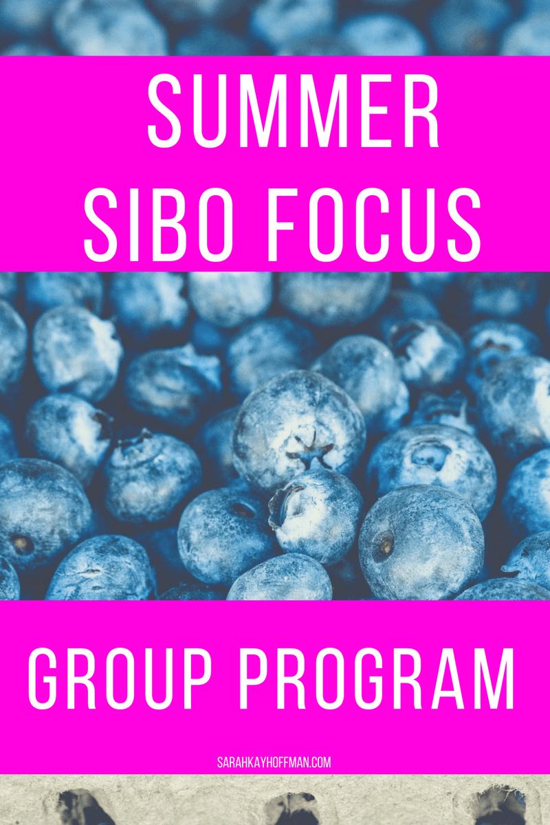 Summer SIBO Focus Group Gut Healing Program sarahkayhoffman.com