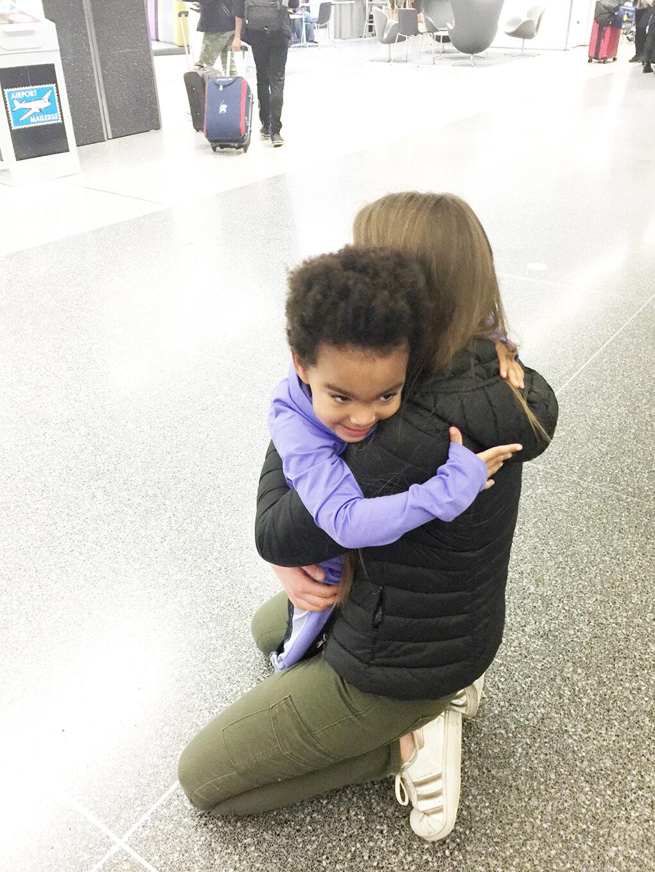 My Hardest Goodbye sarahkayhoffman.com Ceci and Samarah at the Airport