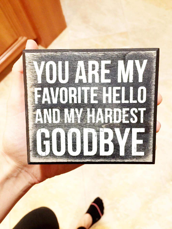 My Hardest Goodbye sarahkayhoffman.com