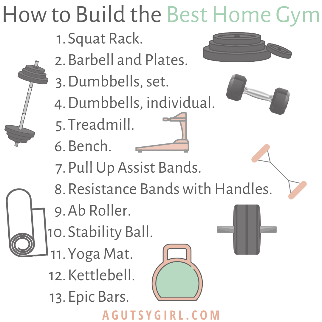 How to Build the Best Home Gym agutsygirl.com #homegym #athomeworkout #workouts