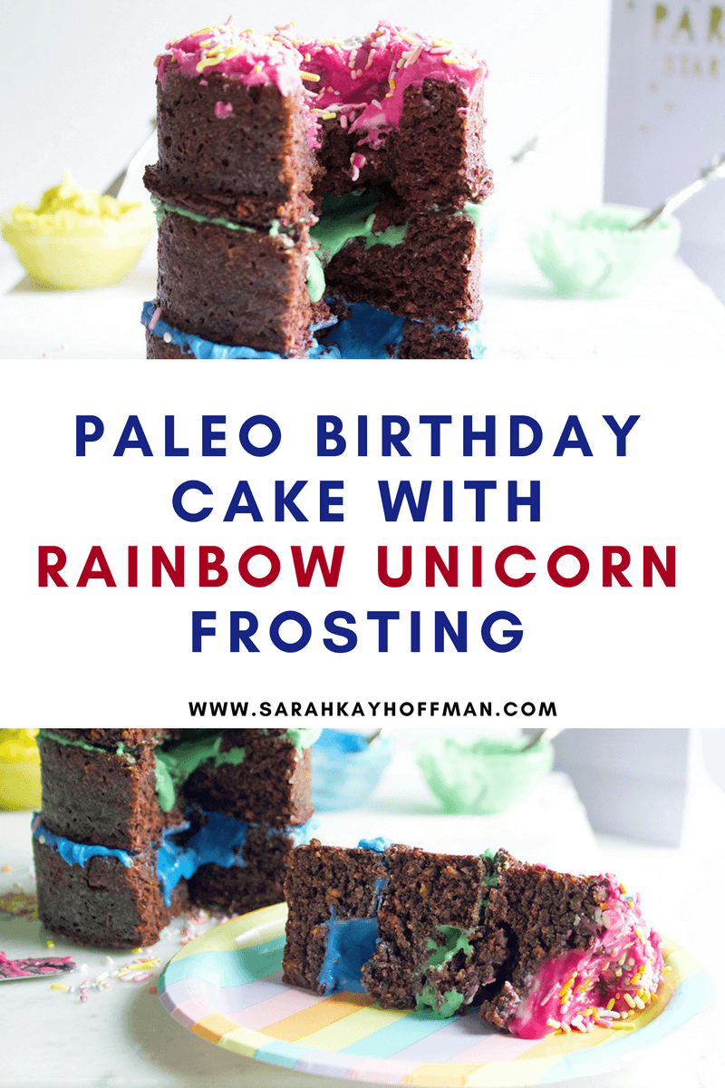 paleo birthday cake Paleo Birthday Cake with Rainbow Unicorn Frosting   A Gutsy Girl paleo birthday cake