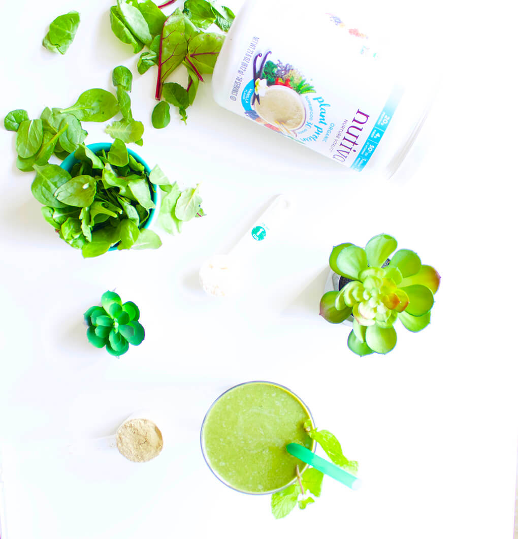 ... totally digging this Vanilla Mint Shamrock Protein Shake at our house