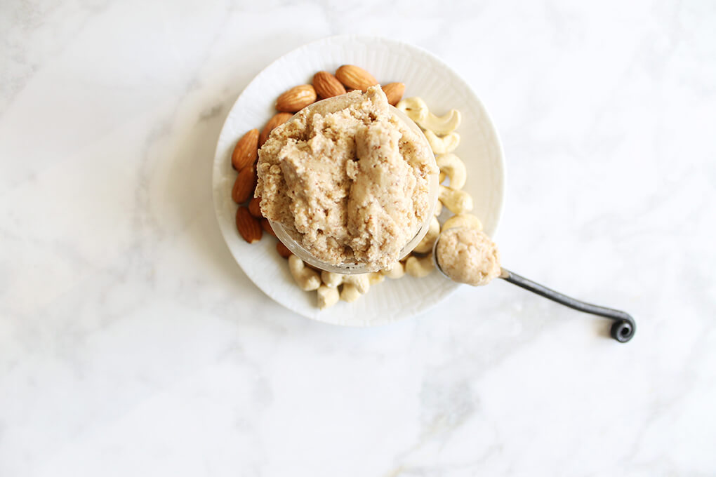 Gluten Free Recipe Roundup Two sarahkayhoffman.com MCT Cashew Almond Nut Butter Spoon Organic