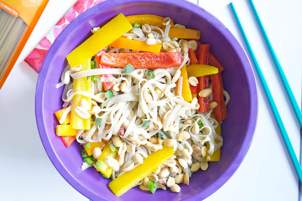 Gluten Free Recipe Roundup Two sarahkayhoffman.com Summer Pad Thai Noodle Salad