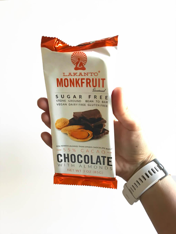 My Favorites Issue 7 sarahkayhoffman.com Lakanto Monk Fruit Chocolate Almond Bar